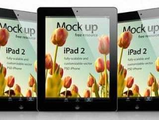 iPad 2 Psd矢量模拟模板
