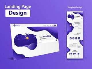 着陆页网站矢量模板设计网页模板矢量素材下载