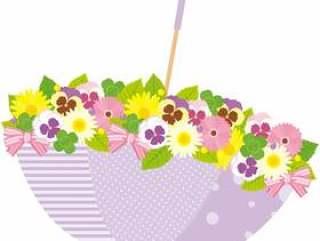 雨季的花朵图案〜紫〜