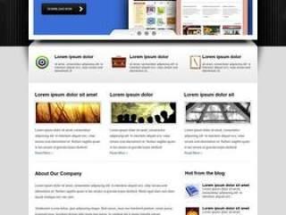 欧美风格企业网站模板八