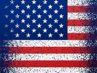 grunge纹理美国国旗背景