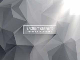 抽象的灰色三角背景矢量设计