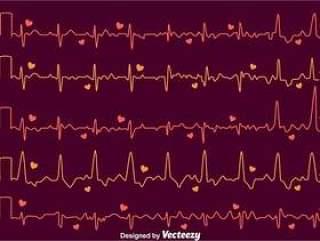 在黑暗的紫色传染媒介的心脏节奏