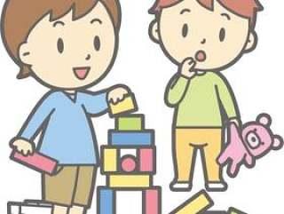 两个孩子玩 - 整个身体