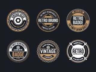 圈复古和复古徽章设计集合