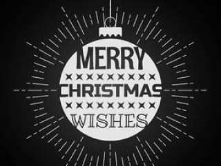 圣诞节祝福圣诞节球