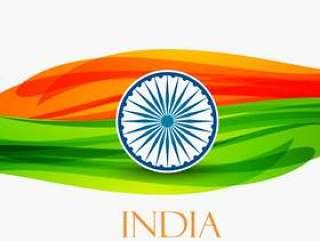 印度传染媒介设计例证的共和国天