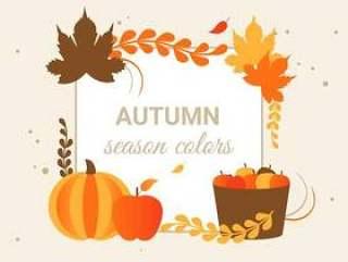 平面设计矢量秋天问候图