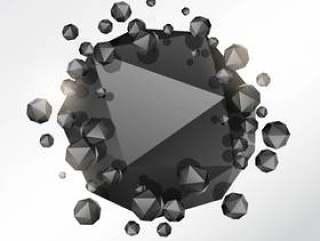 抽象的3d几何形状颗粒背景