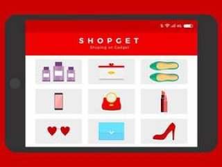 红色红宝石拖鞋在线购物 矢量