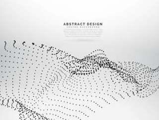 抽象粒子在白色背景上网