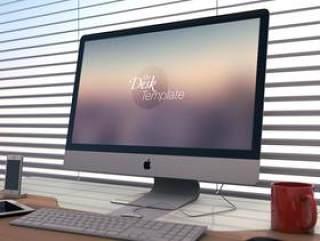 苹果电脑ipad手机作品展示模板