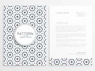 业务信笺设计与图案背景