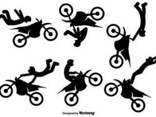 摩托车车手的矢量图标