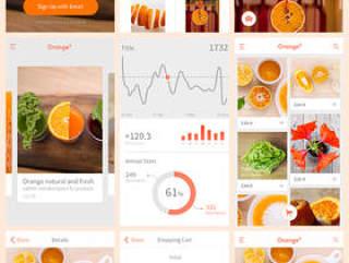 Orange9 移动应用程序界面