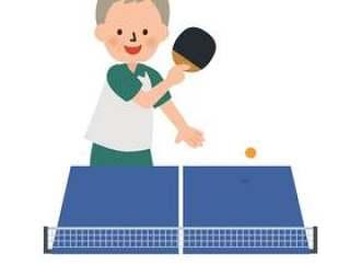 打乒乓球的人
