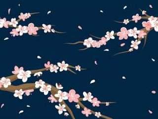 梅花背景 矢量