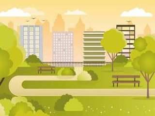 矢量城市景观图