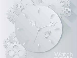 手表部件背景矢量