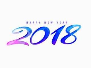 创意新年快乐2018年设计