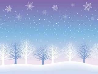 无缝的雪背景