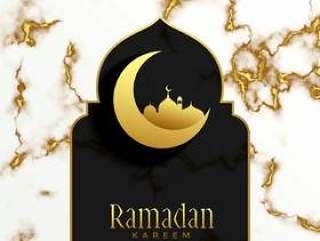 美丽的伊斯兰斋月贾巴尔节日设计