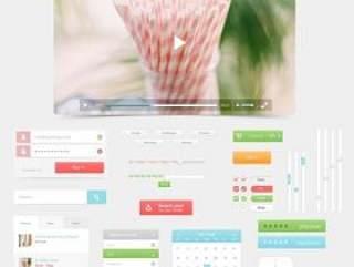 清新风格UI设计源文件