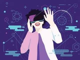 虚拟现实体验第2卷矢量