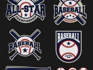 棒球徽章标志设计对于标志