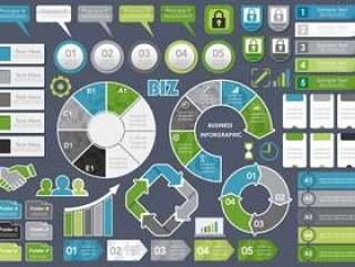 套被分类的企业相关infographic