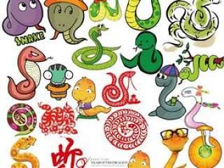 2013蛇年各类卡通蛇PSD源文件