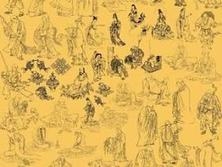佛教宗教人物白描