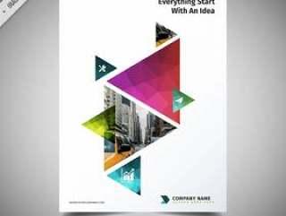 彩色的三角形宣传册设计