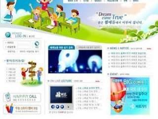 儿童娱乐网站模板(23)