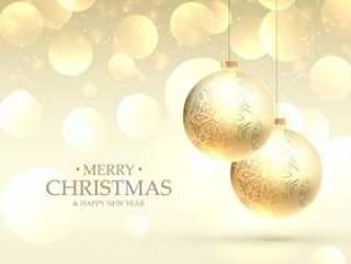 美丽优雅的圣诞快乐圣诞贺卡背景