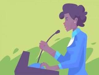 颜色讲话的妇女