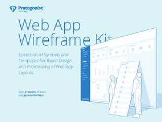 Web应用程序快速原型设计Wireframe Kit for Sketch。,Protogonist Web Wireframe