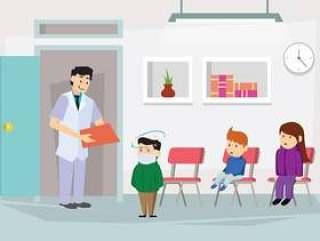 与儿科医生例证的核对