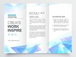抽象的蓝色三角灯笼宣传册设计