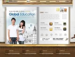 教育学校网页页面设计