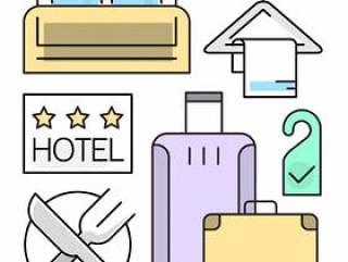 线性酒店图标设置