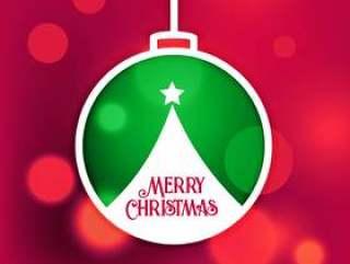 圣诞快乐圣诞设计背景与散景效果