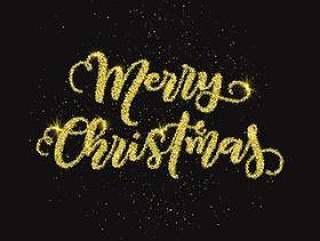 闪光圣诞快乐圣诞背景