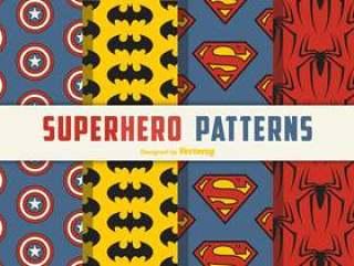 超级英雄无缝矢量模式