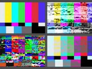 没有信号电视测试图案背景设置