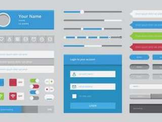 平面设计中的线框元素移动和Web应用程序
