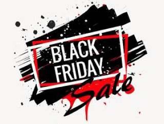 抽象的黑色星期五销售海报