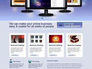 欧美风格企业网站模板十