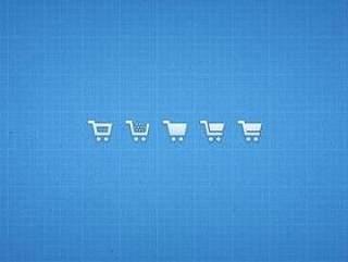 购物车图标—psd分层素材