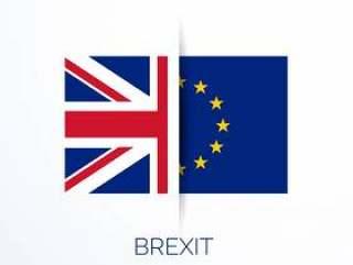 英国公民投票与英国和欧盟旗帜